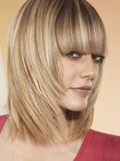 Perruque capless gracieuse lisse cheveux humains