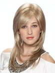 Perruque synthétique multicouche blonde lace front