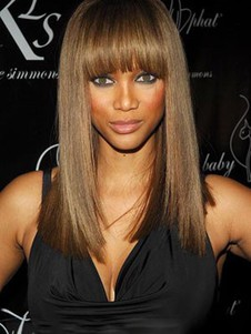 Perruque longue de style lisse full lace tyra banks