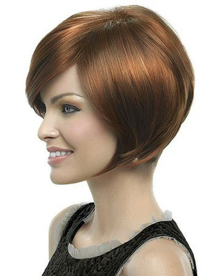 Perruque lisse attractive lace front de style bob - Photo 2