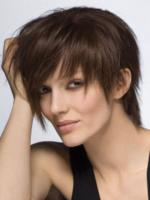 Perruque cheveux humains capless attractive lisse - Photo 1