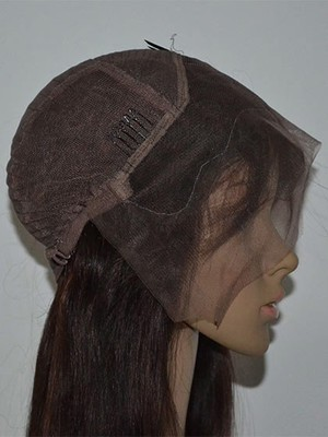 Perruque frappante mi-longue cheveux natureles lace front longueur - Photo 2