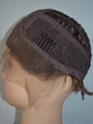 Perruque lisse flatteuse lace front synthétique - Photo 2