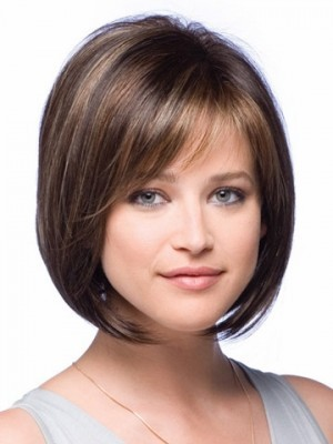 Perruque courte lisse de style bob full lace - Photo 1