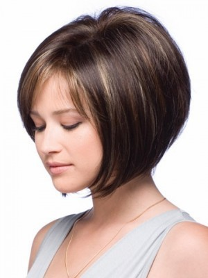 Perruque courte lisse de style bob full lace - Photo 4