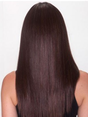 Perruque en vogue synthétique lace front lisse - Photo 4