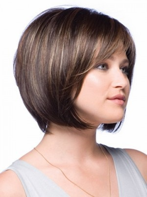 Perruque courte lisse de style bob full lace - Photo 3
