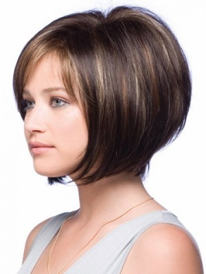 Perruque courte lisse de style bob full lace - Photo 2