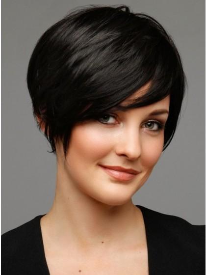 Perruque courte cheveux naturels de noire